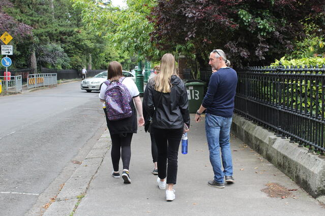 CAPAStudyAbroad_Summer2019_Dublin_Clare Mullin_Walking with Professor Darren