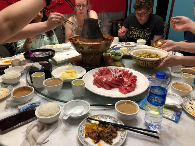 A CAPA funded lunch on our last day in Beijing