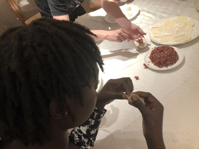 Me learning to lock dumplings