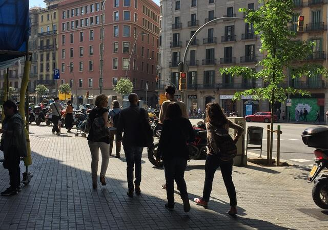 Getting around Barcelona and being a part of local life.