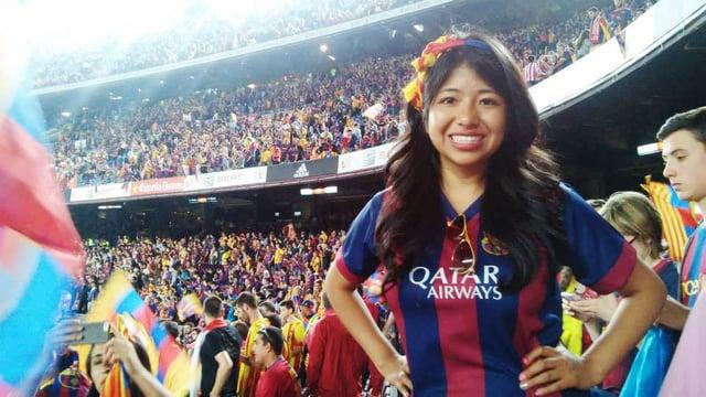 Attending a FC Barcelona match at Camp Nou