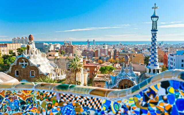Parc Guell is one of 9 UNESCO World Heritage sites in Barcelona.