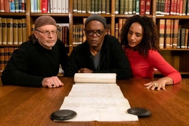 Director, Simcha Jacobovici; Samuel L. Jackson, co-executive producer, and journalist/presenter Afua Hirsch