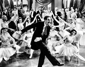 Hail Hail Freedonia as performed by Groucho Marx and faithful citizens