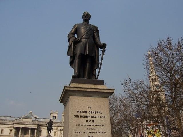 Henry Havelock in Trafalgar Square