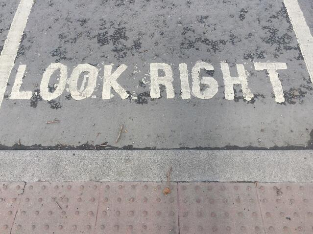 Friendly Reminder While Crossing the Street
