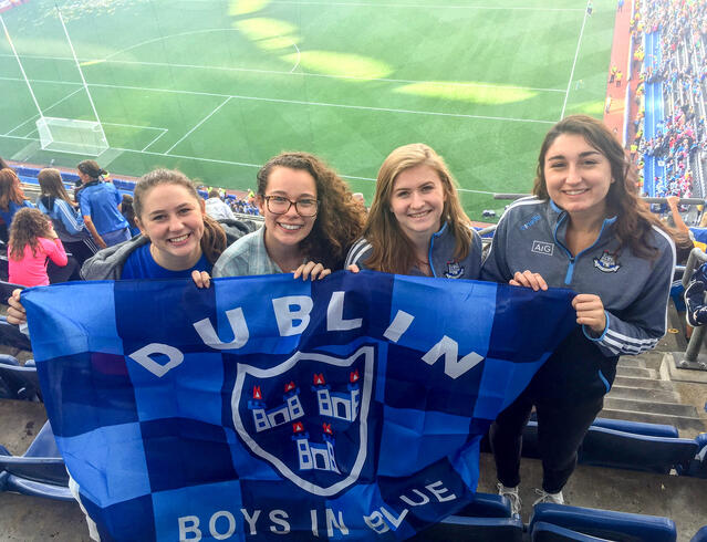 CAPAStudyAbroad_Dublin_Fall2018_From Jessica Kisluk - Supporting This Team with My Friends