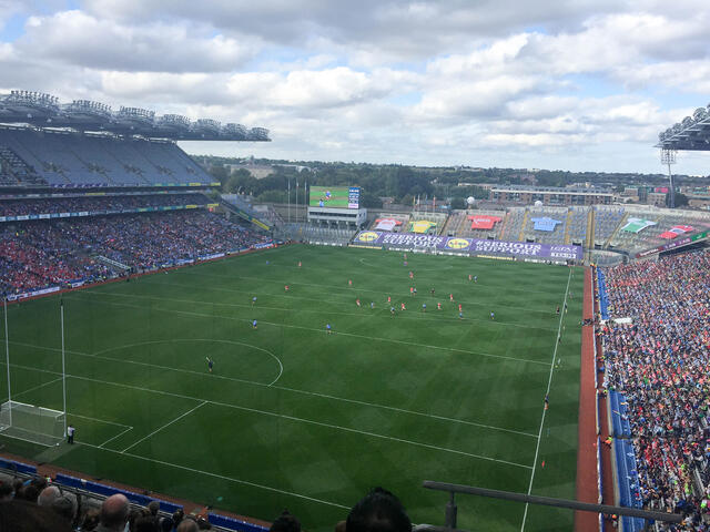 CAPAStudyAbroad_Dublin_Fall2018_From Jessica Kisluk - Watching Gaelic Football at Croke Park