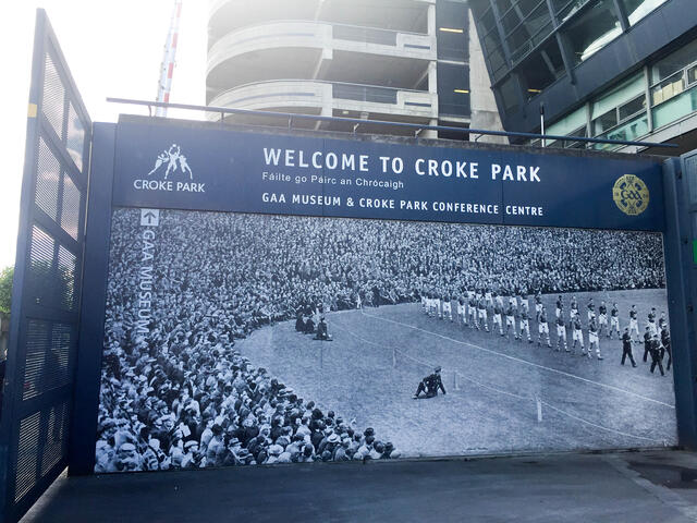 Welcome Sign to Croke Park