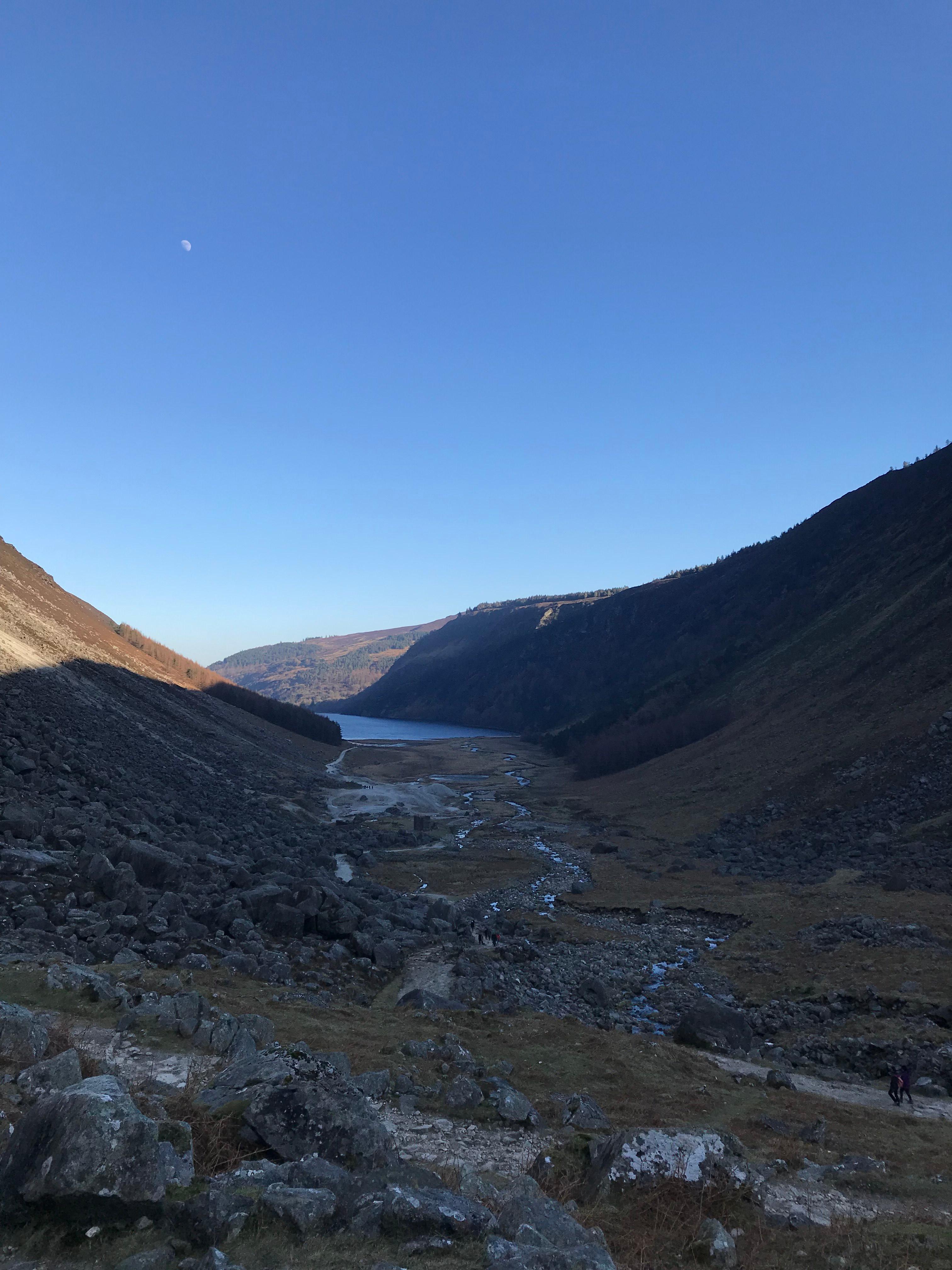 CAPAStudyAbroad_Dublin_Spring2018_From Brandon Mooney - Boulder Field Looking Back at Upper Lake in Glendalough.jpeg