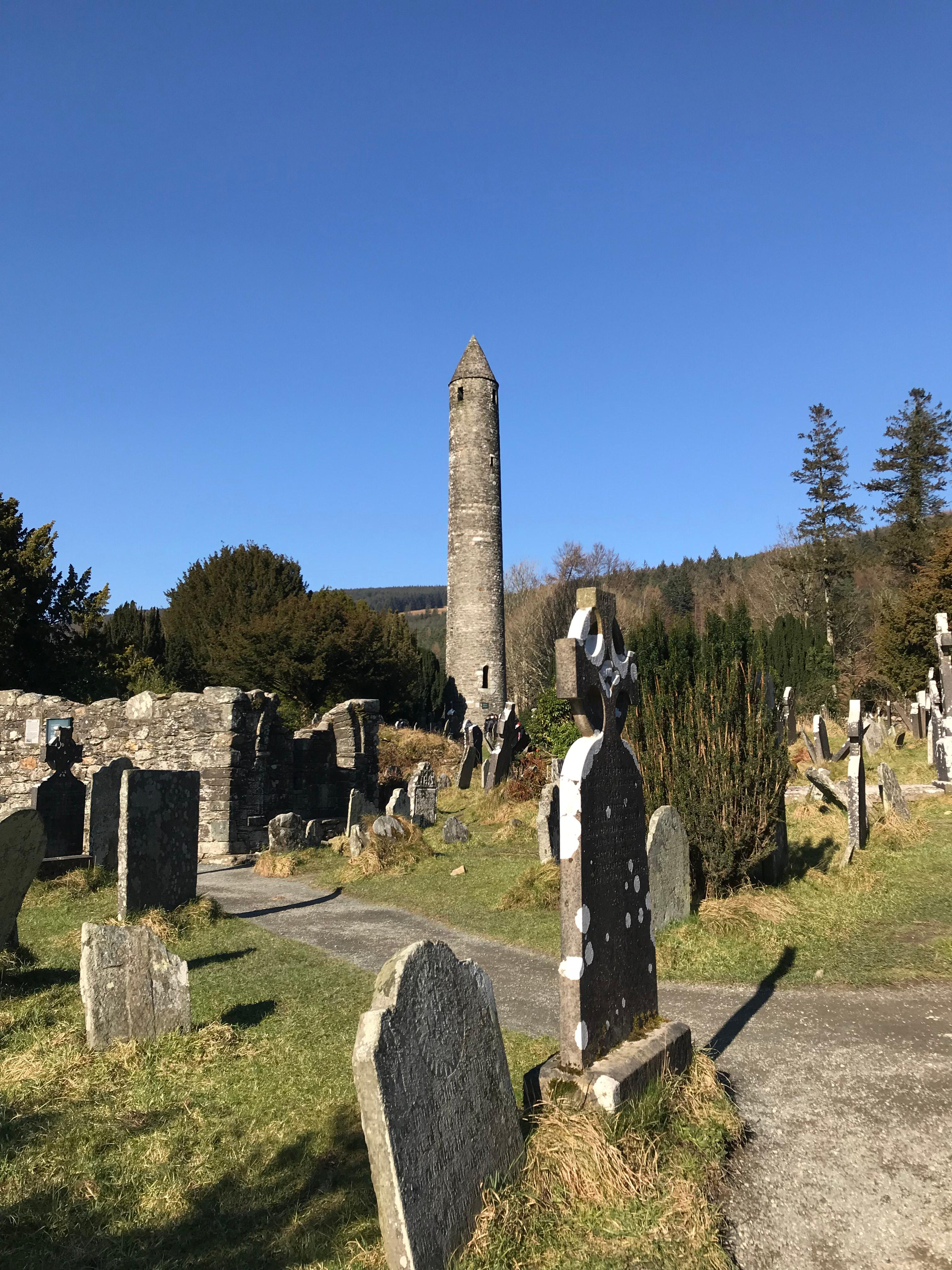 CAPAStudyAbroad_Dublin_Spring2018_From Brandon Mooney - Cemetery and Round Tower of the Monastic City in Glendalough.jpeg