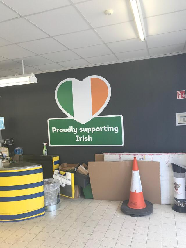 CAPAStudyAbroad_Dublin_Spring2018_From Brandon Mooney - Irish Pride in Lidl