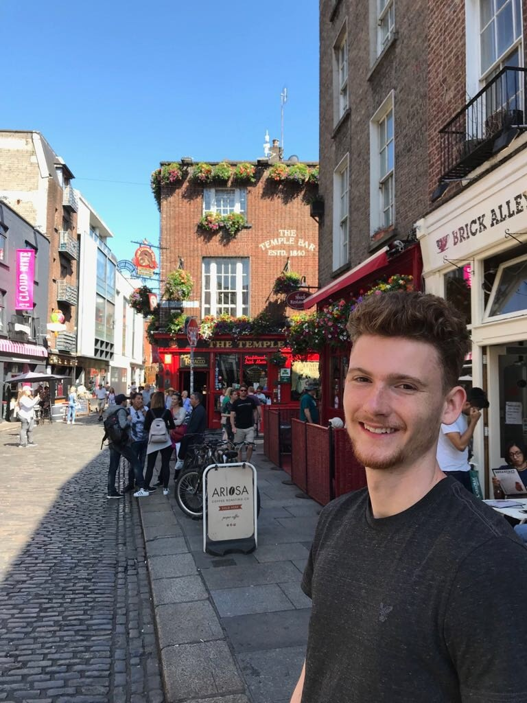CAPAStudyAbroad_Dublin_Spring2018_From Brandon Mooney - Self-Outside Temple Bar
