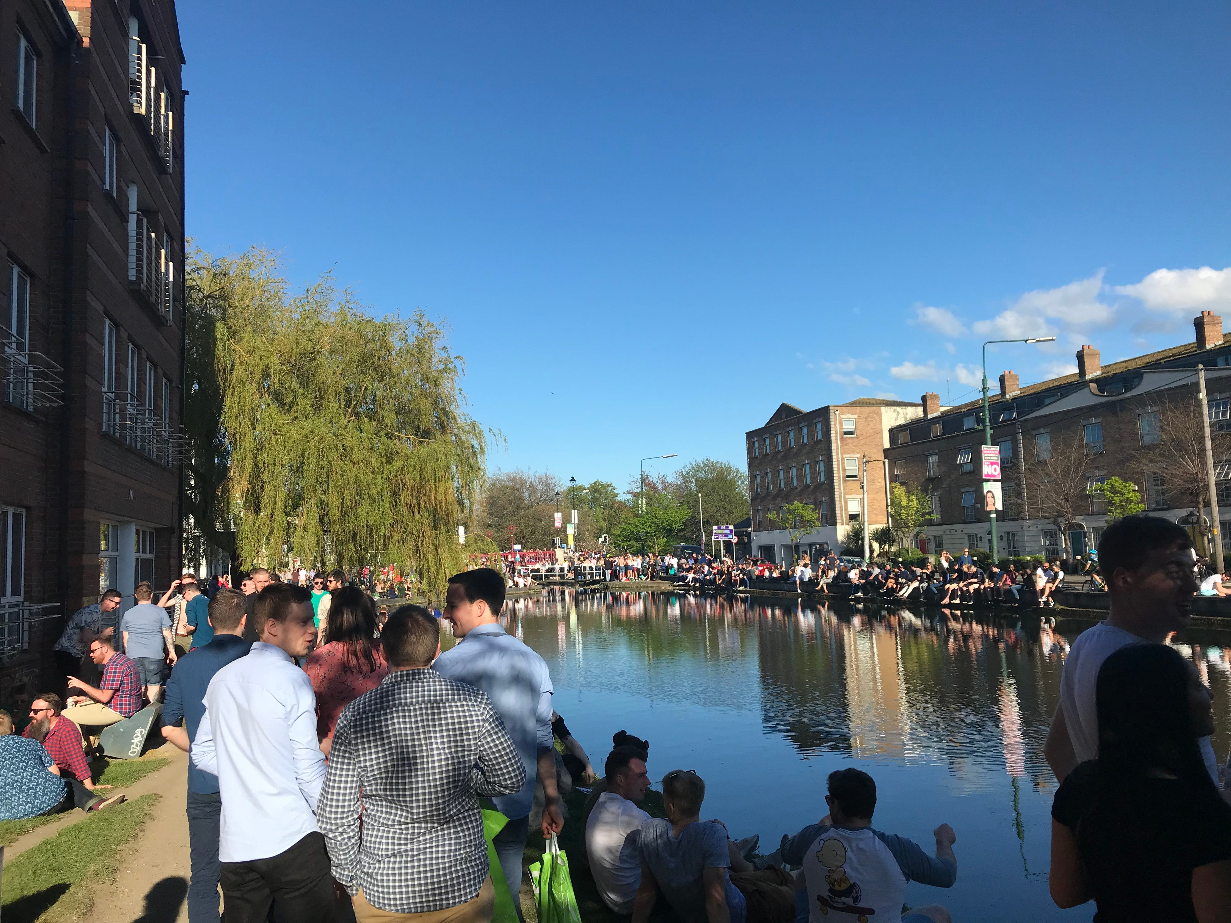 CAPAStudyAbroad_Dublin_Spring2018_From Brandon Mooney - The Canal on a Sunny Day