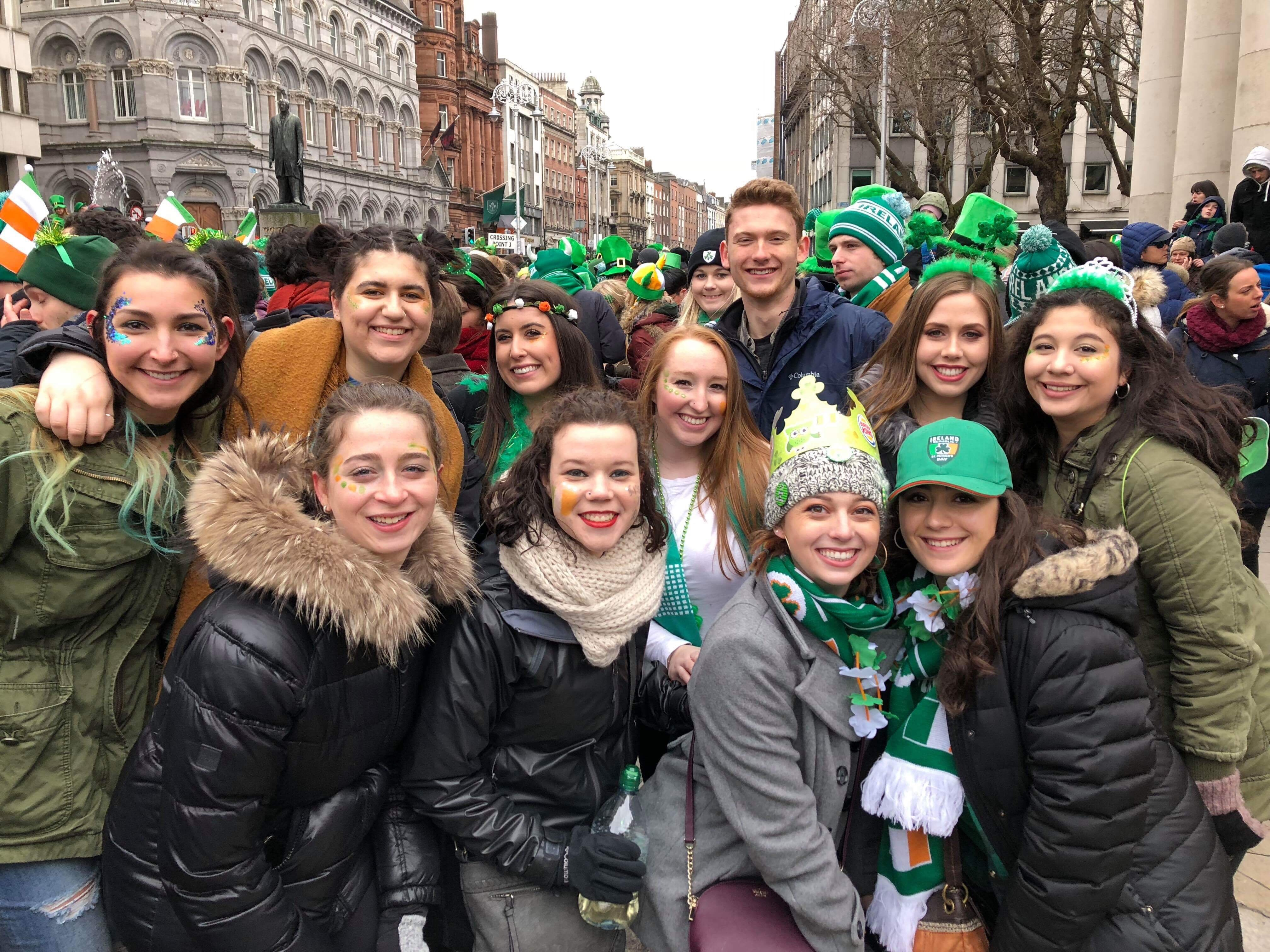CAPAStudyAbroad_Dublin_Spring2018_From Brandon Mooney - With Friends at St. Patrick's Day Parade.jpeg