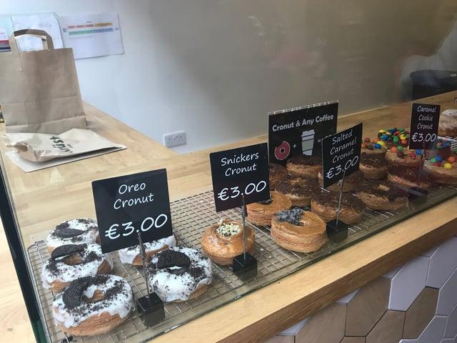 CAPAStudyAbroad_Fall2017_Dublin_From Elizabeth Leahy - Krust Bakery Donut selection.jpg