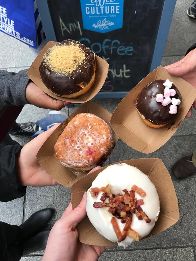 CAPAStudyAbroad_Fall2017_Dublin_From Elizabeth Leahy - Rolling Donuts- Group Donut Shot.jpg