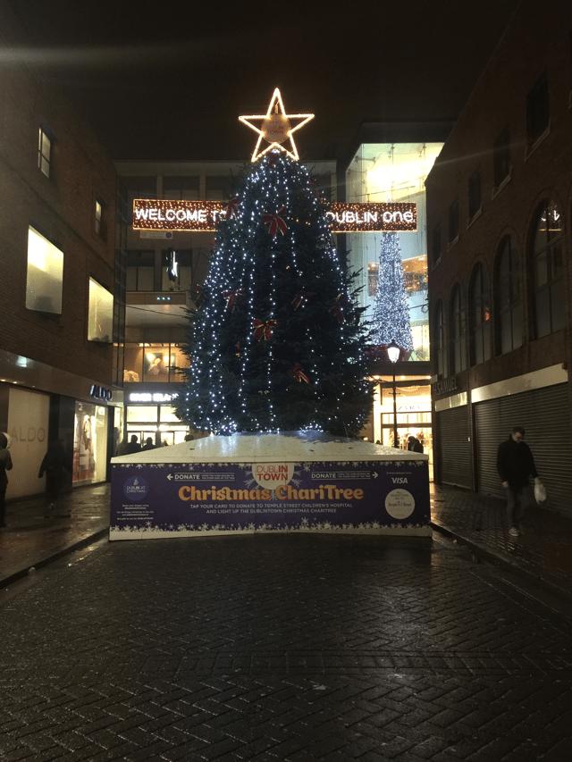 Dublin One's Christmas tree.
