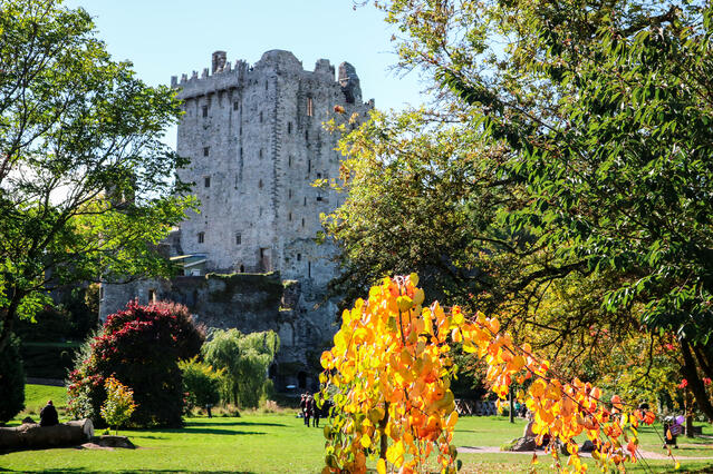 View of the Blarney Castle in Cork, Ireland