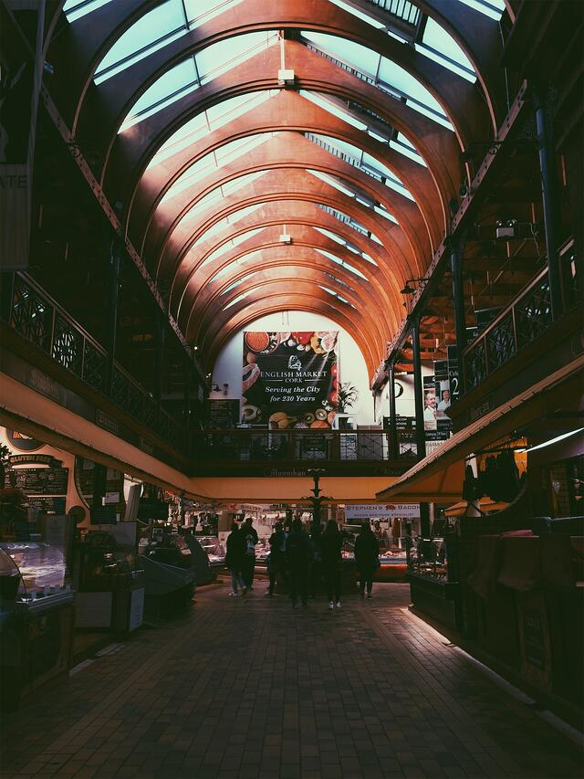 Entrance to the English Market in Cork, Ireland