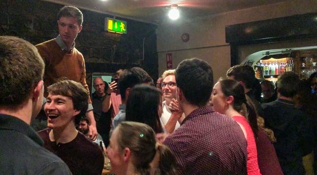 Crowd Learning Irish Dance in Dublin