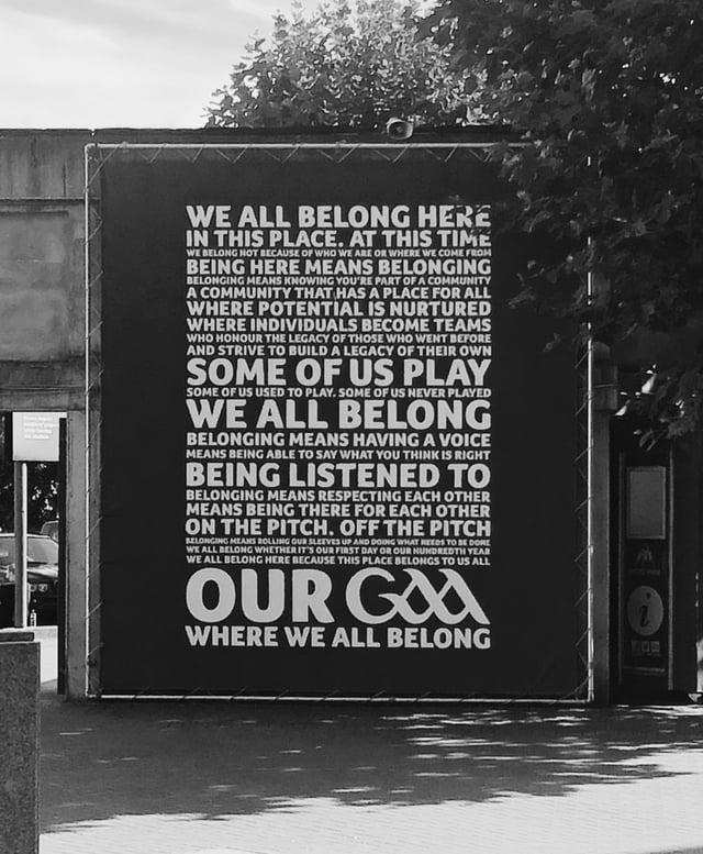 Inspiring Sign outside of Croke Park
