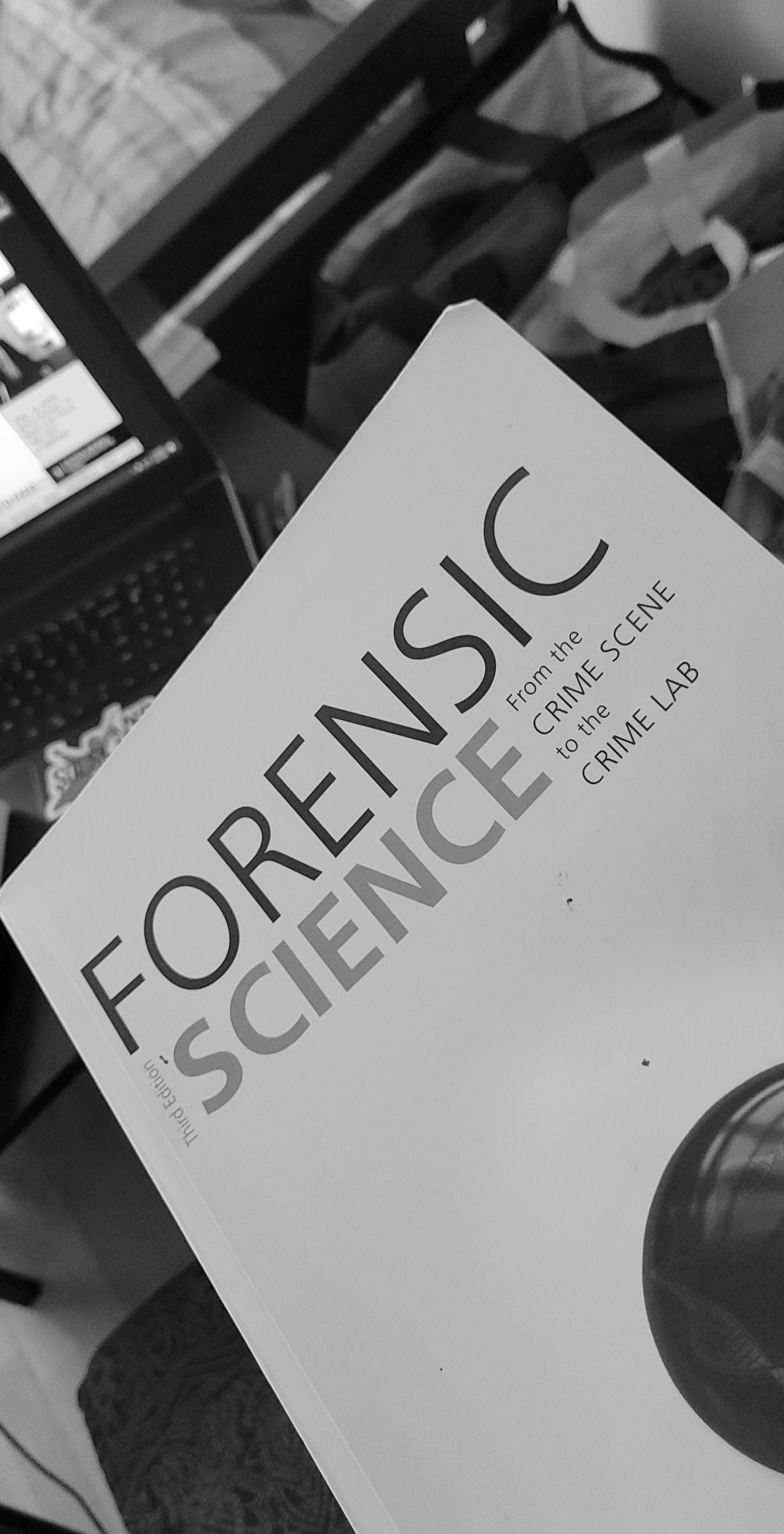 The Forensic Science textbook that I consult for information.