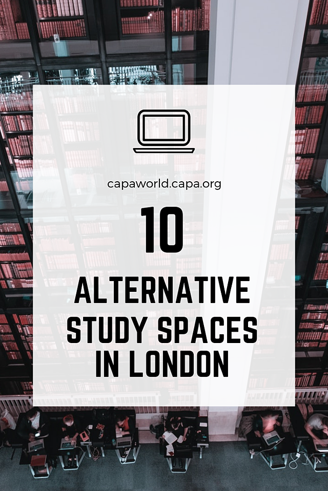10 Alternative Study Spots in London - Pinterest Graphic