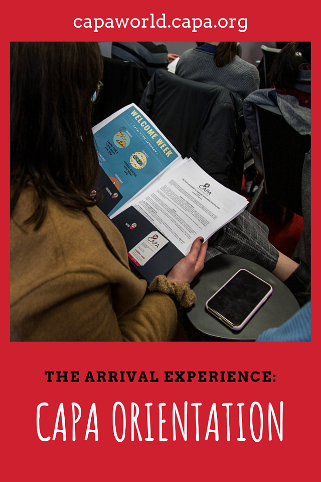 The Arrival Experience: CAPA Orientation