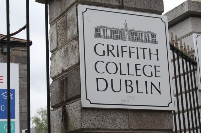 A Griffith College Dublin sign