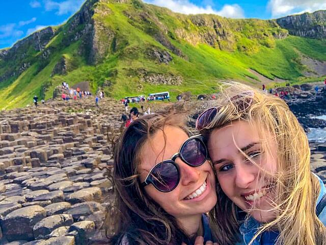 Jenny and I at the Giants Causeway