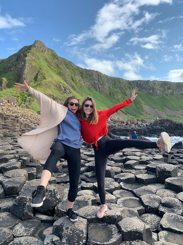 Sara and I at the Giant's Causeway