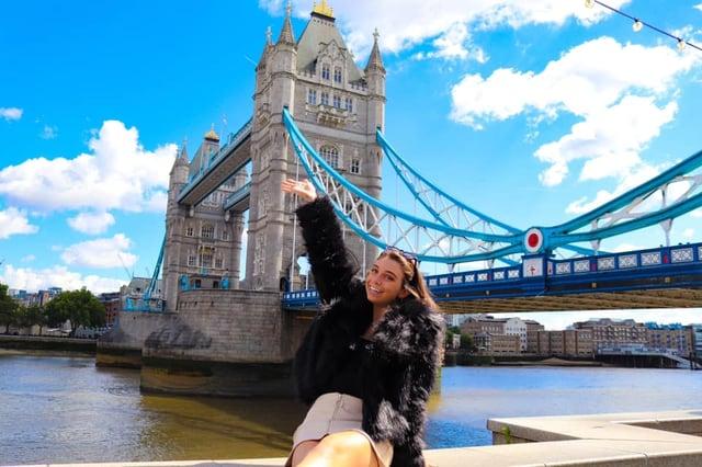 Me chillin' at the London Bridge.