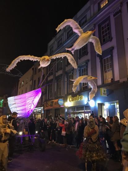CAPAStudyAbroad_Fall2017_Dublin_From Elizabeth Leahy - Halloween_Papier-Mâché Seagulls in the Dublin Macnas Parade.png