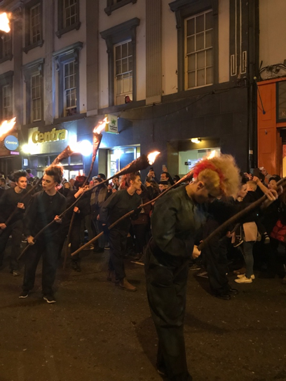 CAPAStudyAbroad_Fall2017_Dublin_From Elizabeth Leahy - Halloween_Torch dancers in the Dublin Macnas Parade.png
