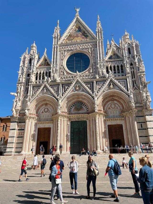 Exterior of the Duomo of Siena