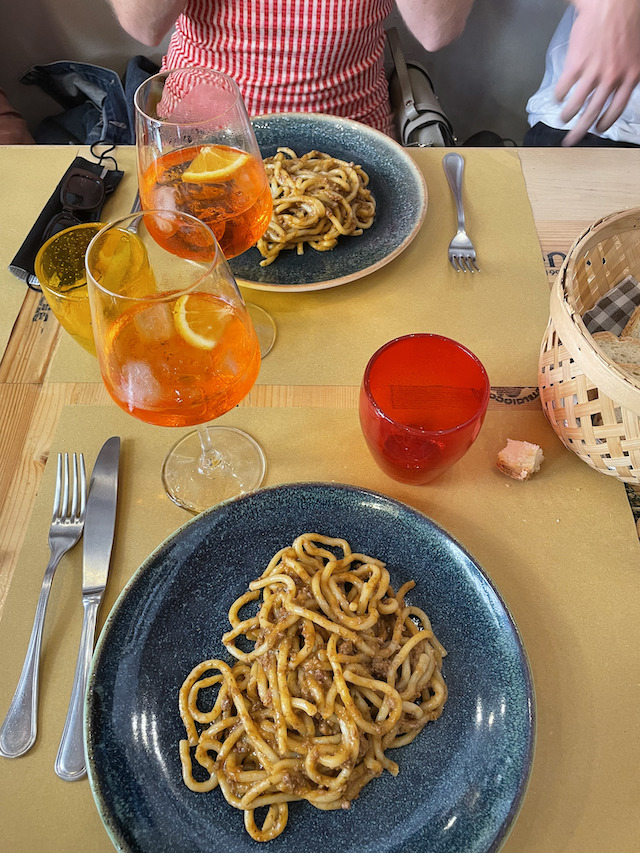 Pici with Beef Ragu in Siena