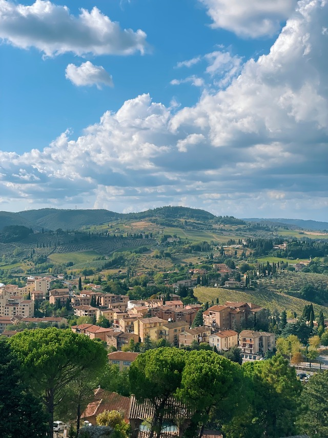 View from the lookout on the Tuscan Hills in San Gimignano