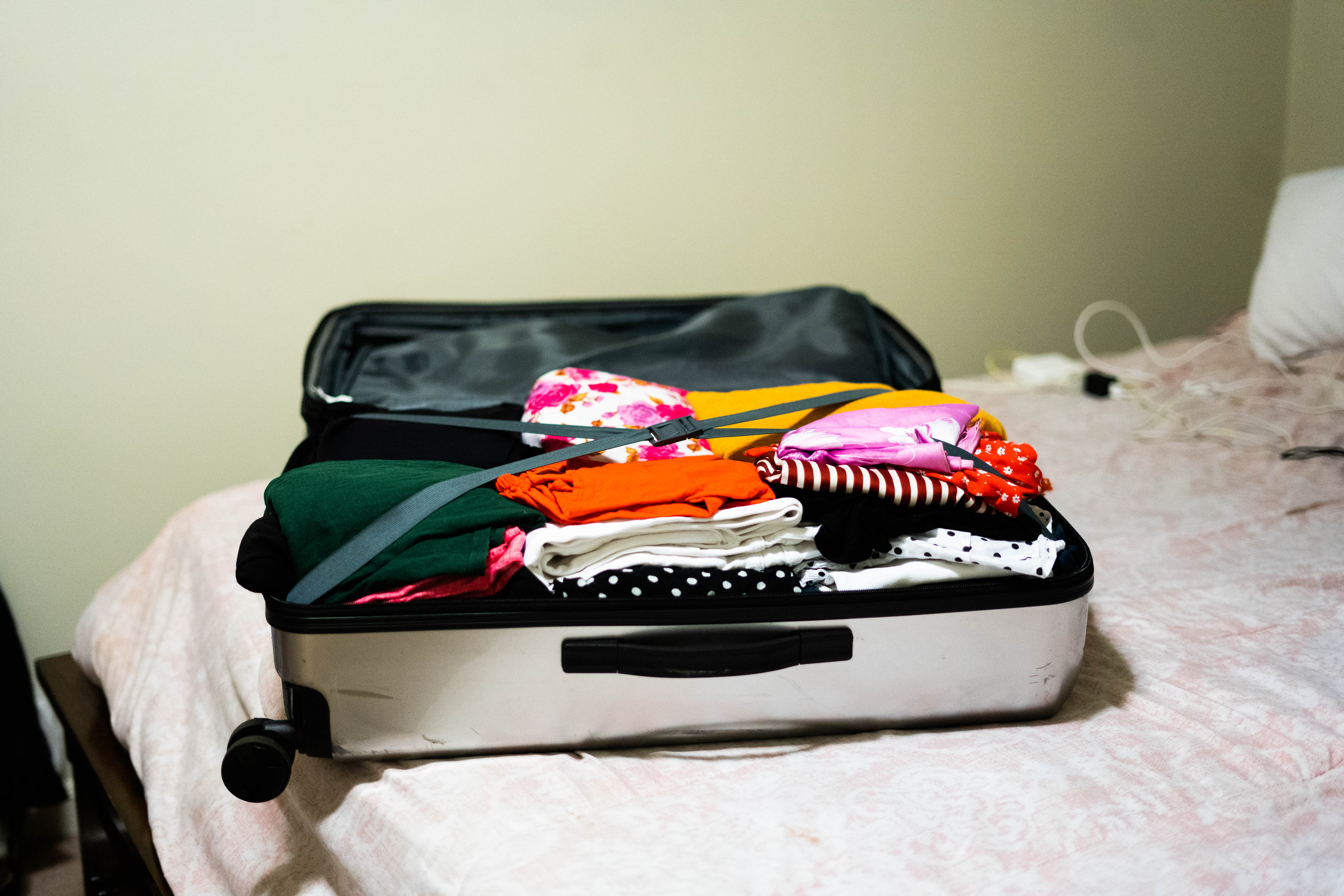 Packed Suitcase for Study Abroad