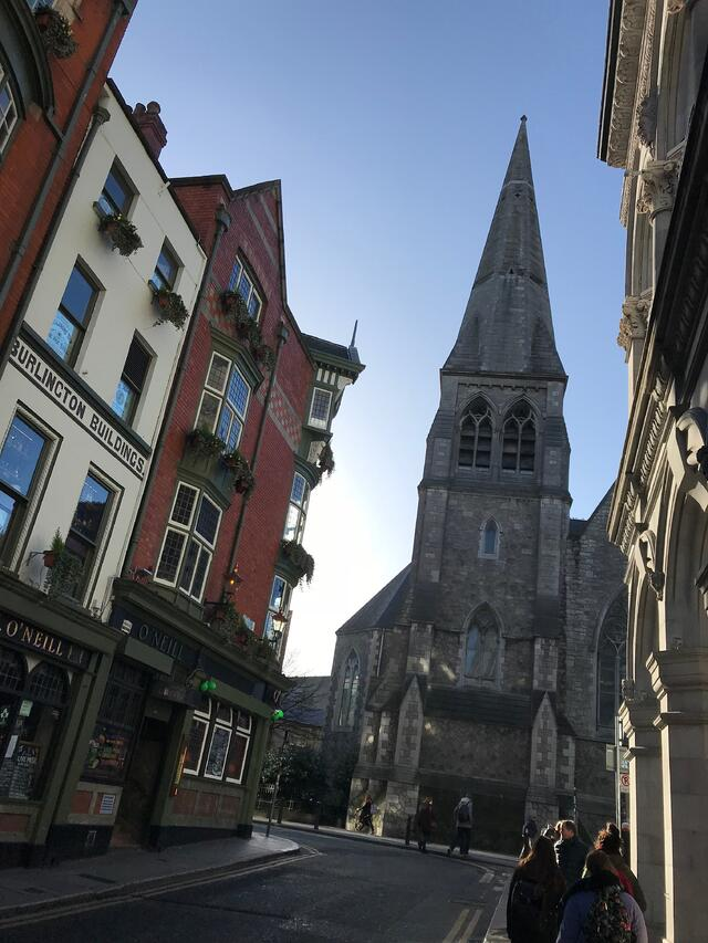 CAPAStudyAbroad_Dublin_Spring2018_From Brandon Mooney - street in Dublin
