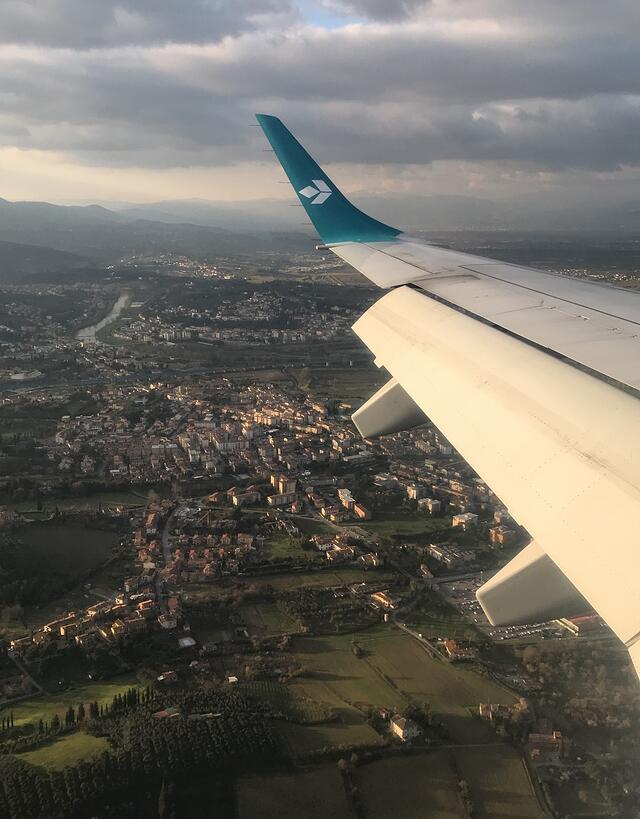 CAPAStudyAbroad_Florence_Spring2018_From Nicole Wong - view from plane window