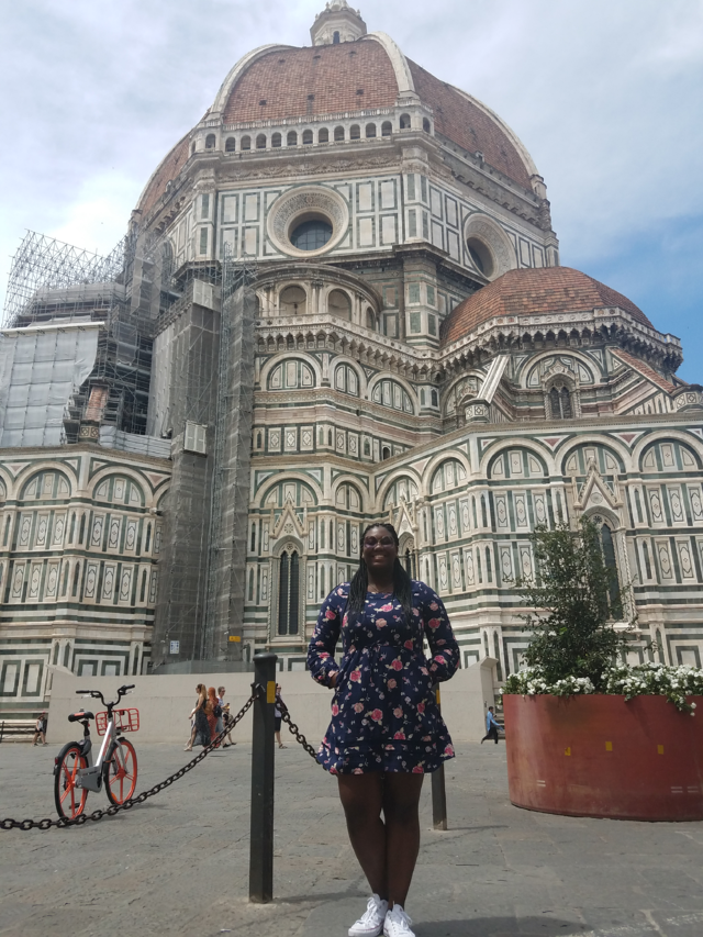CAPAStudyAbroad_Florence_Summer2018_From CeDrice Howard - CeDrice in front of Duomo