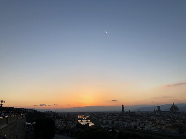 CAPAStudyAbroad_Florence_Summer2018_From Lindsey Feamster - sunset over Florence