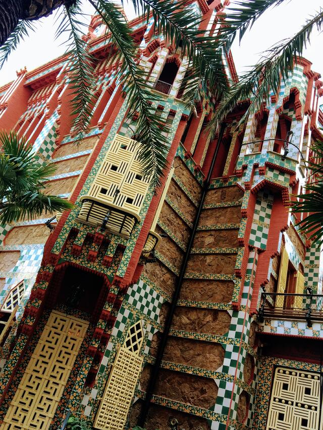 A colorful building in Barcelona, Spain.