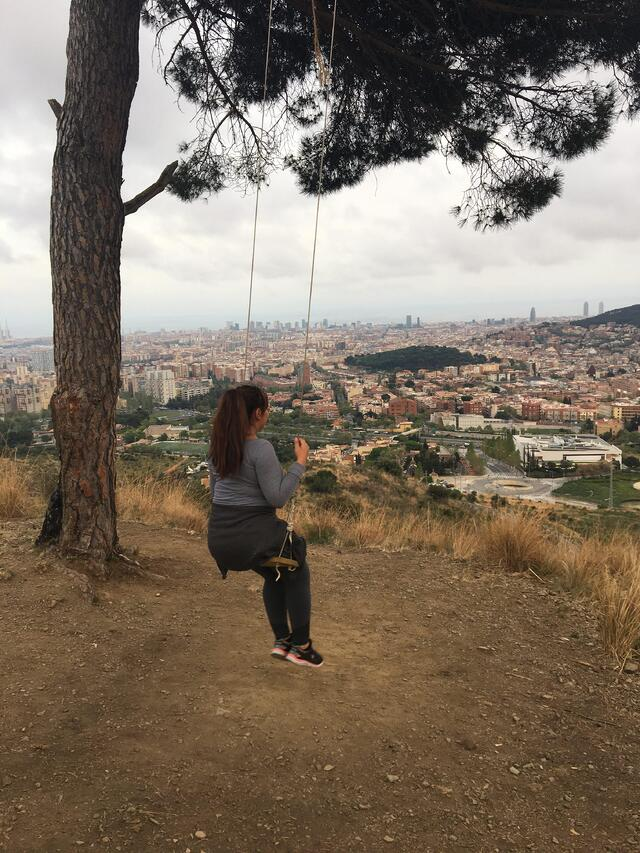 Me Looking over the city of Barcelona, Spain.