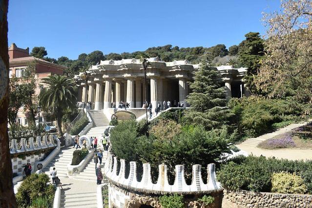 Another view of Parque Guell.
