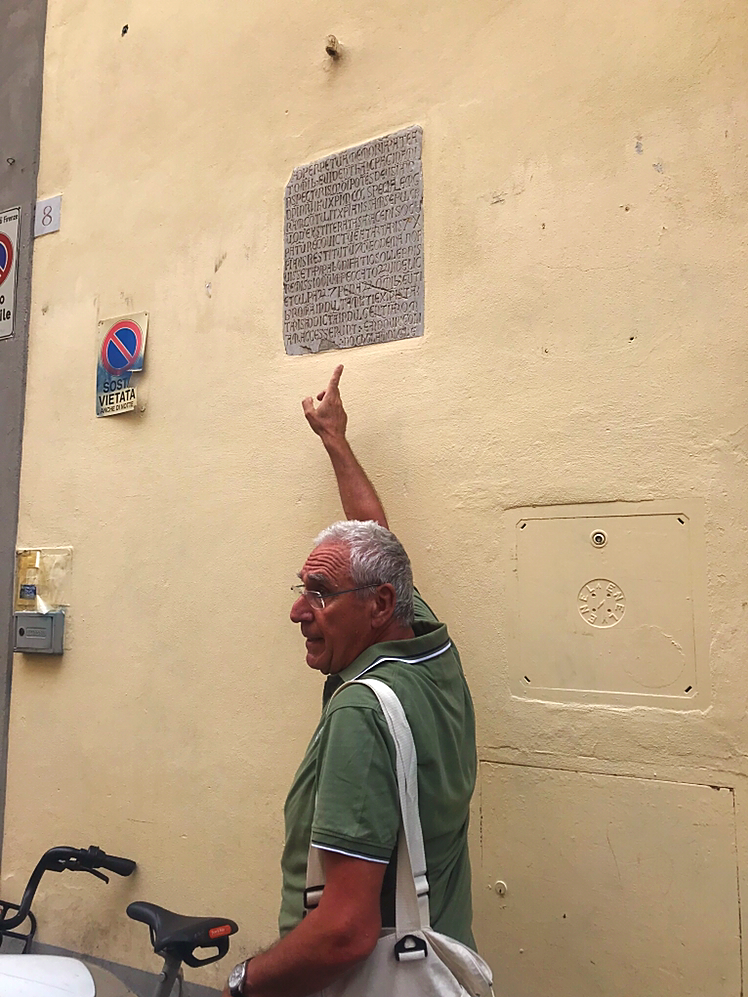Historical Plaque on Building in Florence