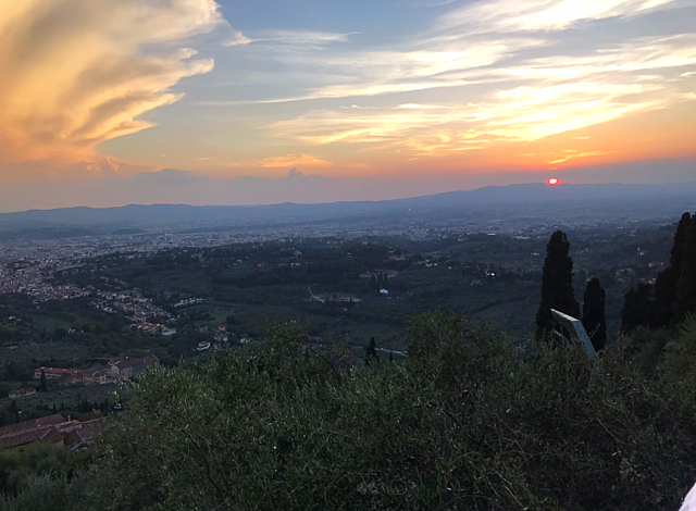 View of Florence From Monte Ceceri at Sunset