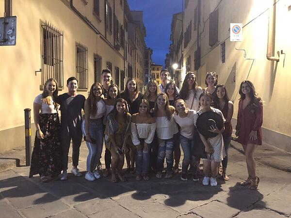 A Group Photo with My Friends in Florence