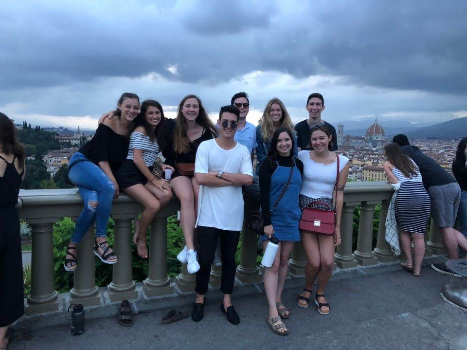 Group Photo with Friends at Piazzale Michelangelo